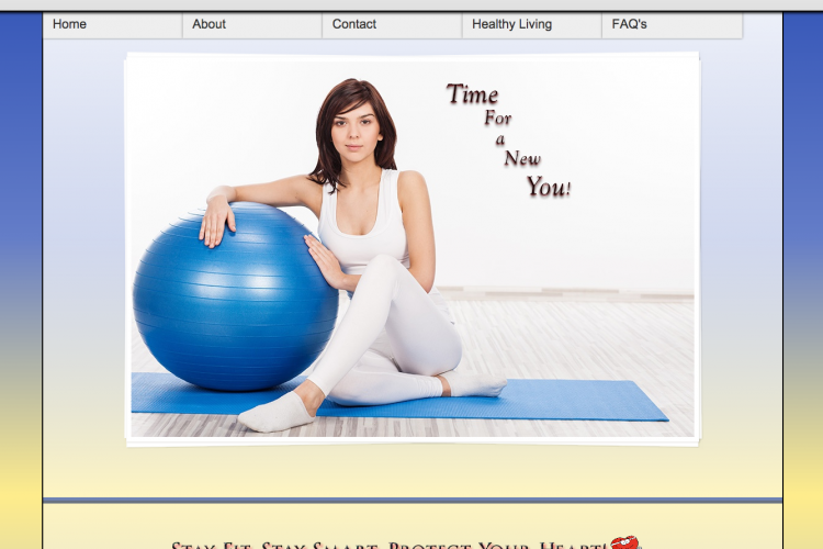 Image of lady and exercise ball